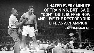 £3.99 • Buy Inspirational Quote Muhammad Ali Boxing Sport Print Poster Wall Art Picture A4 +