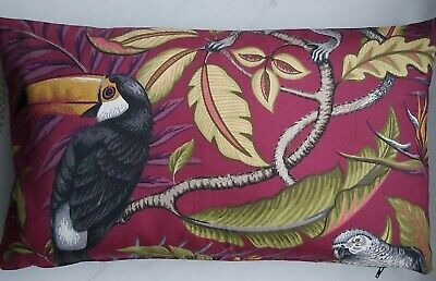 Jungle, Leaves And Tucan. Cushion Cover 30x50cm • 1.80£