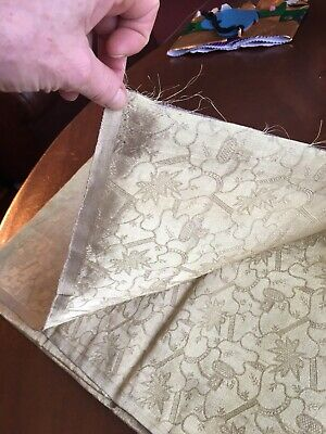 Gold Embroidered Silk Fabric • 10£
