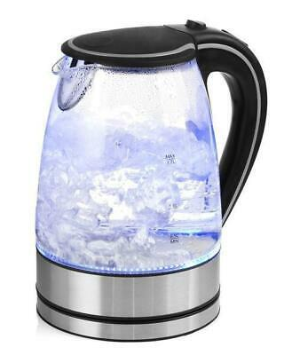 AU34.95 • Buy Glass Kettle Electric LED Light Kitchen Water Jug Stainless Steel 1.7L