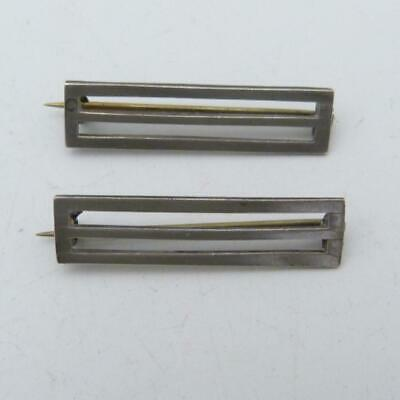Pair Of Antique Silver Bar Brooches, Hallmarked 1906 • 4.99£