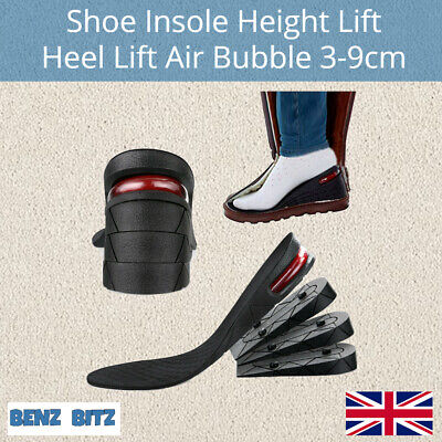 £7.99 • Buy Shoe Height Increase Insoles Heel Lift 3-9cm Air Support Cushion Unisex Washable