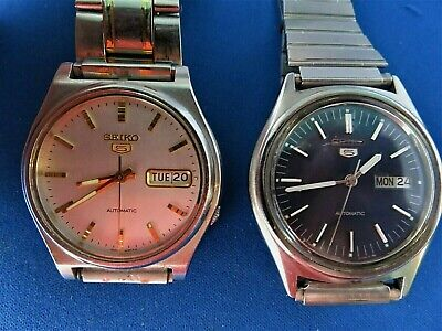 $ CDN94.72 • Buy Lot Of 2 Seiko's 5 Automatic's Stainless Steel Day/date 1970's Men's Watches