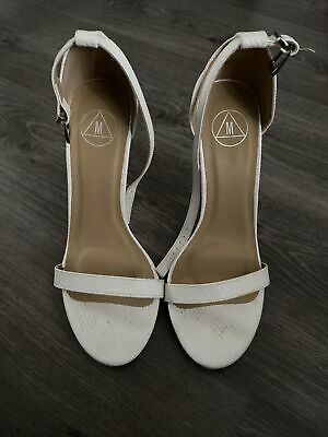 Missguided White Barely There Shoes • 5£