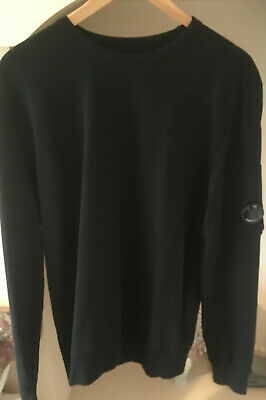 Cp Company Cotton Jumper Black In Excellent Condition - Xl • 70£
