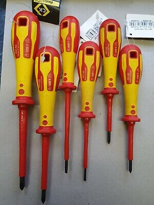 CK DEXTRO Insulated VDE Screwdrivers 4 Pozi 2 Phillips Slotted . • 24.99£