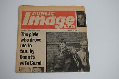 Public Image Ltd.. Public Image 7  Single .. Newspaper Sleeve..  • 10£