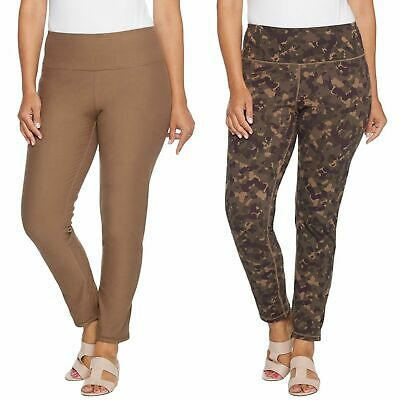 $ CDN29.25 • Buy Women With Control Renee's Reversibles Tummy Control Ankle Pants Stone/Camo L