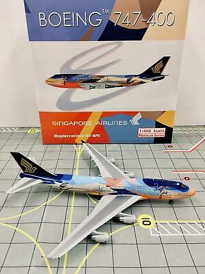 AU169.10 • Buy Phoenix 1:400 Singapore Airlines Boeing 747-400 Tropical Colors 9V-SPL