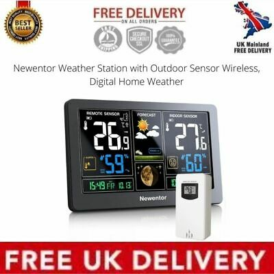 Newentor Weather Station With Outdoor Sensor Wireless, Digital Home Weather • 50.48£