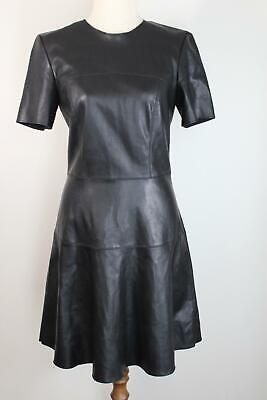 AU34.95 • Buy Zara Black Leather-look Short Sleeve Dress - As New - S (8)
