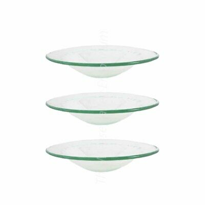 £8.40 • Buy 3 Replacement Glass Dish Bowl For Home Fragrance Oil Burner Wax Melt Aroma Lamp