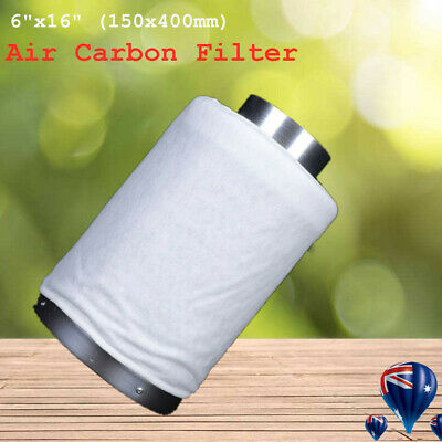 AU98.03 • Buy Hydroponics 6 Inch Carbon Filter For Grow Light Tent Room Ventilation Fan Kit