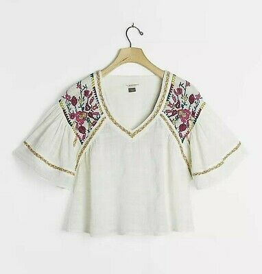 $ CDN82.78 • Buy NWT Anthropologie Tawny Embroidered Blouse Sz Large