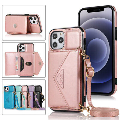 For IPhone 12 Pro Max 11 XS XR SE 2020 7 Plus Card Pocket Stand Phone Back Case • 7.75£