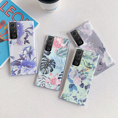 AU5.99 • Buy For Samsung Galaxy S21 Ultra S20 FE S20 Note 20 Shiny Flower Silicone Case Cover