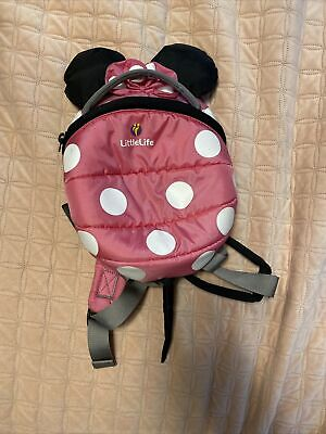 LittleLife Disney Toddler Minnie Mouse Backpack With Rein - Pink • 1.40£