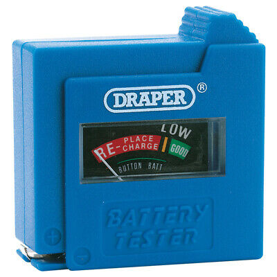 NEW Draper Battery Tester For AAA  AA  C  D  PP3  & 3R12 Size Batteries • 6.99£