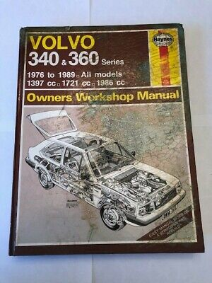 Haynes 715 Manual Volvo 340 & 360 76-89 (Owners Service And Repair Book Manual) • 0.89£