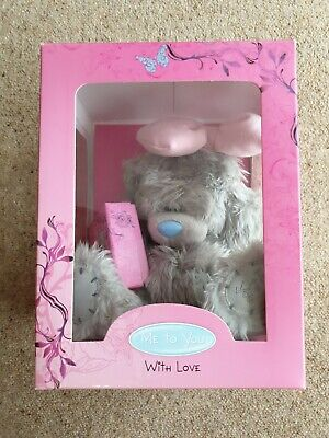 BNIB Me To You Pink Bow Tatty Bear & Jewellery Necklace, Bracelet & Earring Set • 12.50£