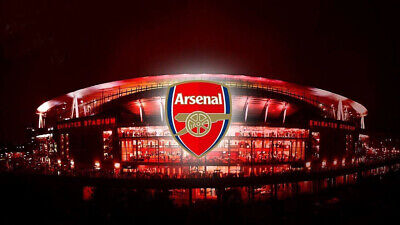 Arsenal Emirates Stadium Football Club Sport Print Poster Wall Art Picture A4 + • 3.99£