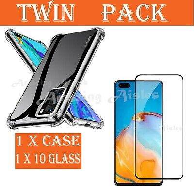 For Huawei P40 P30 Pro P SMART Full Cover/Case Tempered Glass Screen Protector • 3.79£