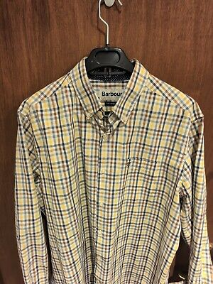 Barbour Check Shirt Size Large Tailored Fit • 11£