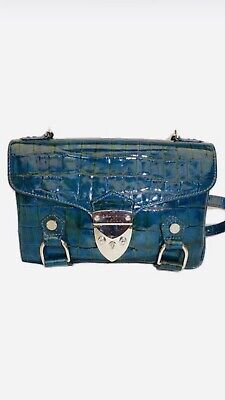 Aspinal Of London Patent Leather Topaz Crossbody / Clutch Bag • 125£