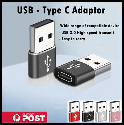 AU4.99 • Buy USB 3.0 Type A Male To USB C 3.0 Type C Female Port Adapter Fast Converter