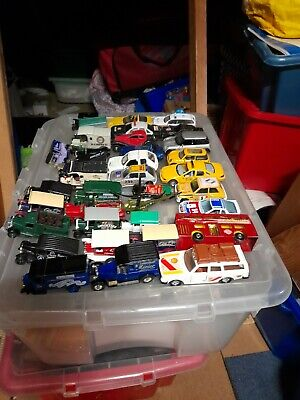 Job Lot Of Matchbox Corgi Burago Car Trucks Etc Volvo Mini Chevrolet Ford Merced • 5£
