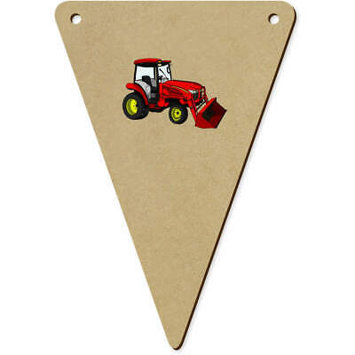 AU12.99 • Buy 5 X 140mm 'Red Tractor' Wooden Bunting Flags (BN00061306)