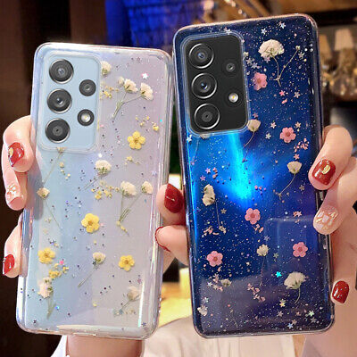$ CDN5.18 • Buy Glitter Real Dried Flower Soft Case Cover For Samsung Galaxy S21 S20 FE A21S A70