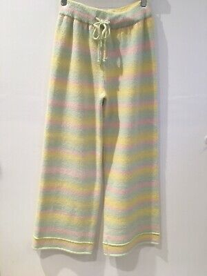 Olivia Rubin Women's 'Isobel' Rainbow Knitted Trousers, Size S #2337/51M IR  • 89£