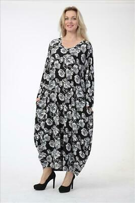 AU219.06 • Buy Plus Size Stunning Floral Pattern Jersey Balloon Dress Bust Up To 52  Xl-xxl