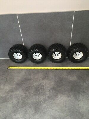 1/10 1/8 Rc Monster Truck Wheels And Tyres , 12mm Hex Fitment 74-54-56 Exc Cond • 25£