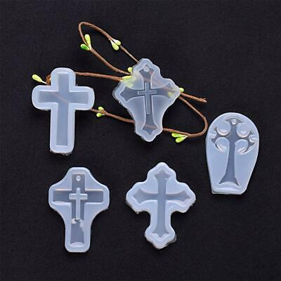 DIY Silicone Resin Mold Cross Mould Pendant Jewelry Tool Creative Molds V0P2 • 2.17£