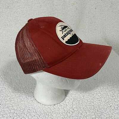 £70.82 • Buy Vintage Patagonia Flying Fish Trucker Hat Snapback Cap Red One Size