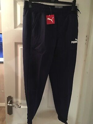 Genuine Puma Tracksuit Bottoms In Navy Blue In Size Medium RRP £45 • 11£