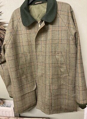 Mens Tweed Shooting / Hunting Coat, Tailer Made, Extra Large, Xl • 50£