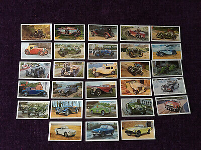 John Player Cigarette Cards Grandee Famous MG Marques  Set Of 28 Great Condition • 3£