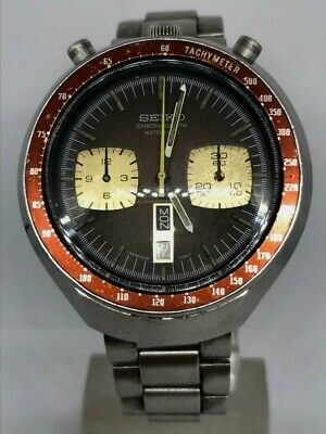$ CDN440.75 • Buy Seiko Bullhead 6138 0060 Chronograph Automatic Tachymeter Watch Vintage Day/date