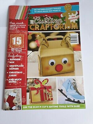 Cutting Craftorium Magazine With Christmas Compendium Usb - Used - Free Postage • 12.99£