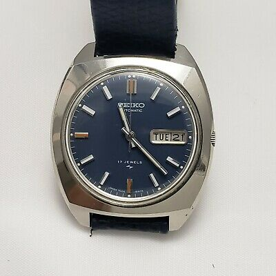 $ CDN89 • Buy Seiko 17 Jewel 7006-8059 Japan Automatic Wristwatch Blue Dial Runs Excellent