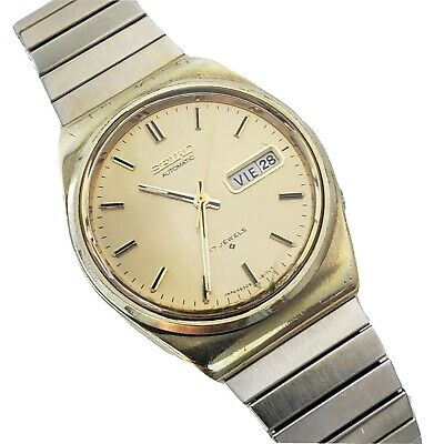 $ CDN69 • Buy Seiko 17 Jewel 6309-8159 Japan Automatic Wristwatch Gold Dial Runs Excellent