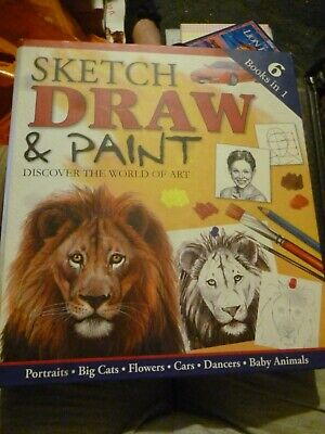 Sketch Draw & Paint Art 6 In 1 Books In A Folder Good Condition • 3£