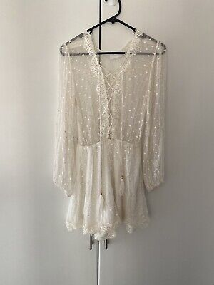 AU72 • Buy Zimmerman White Playsuit 0