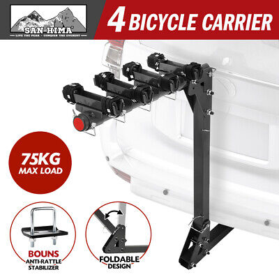 AU179.95 • Buy SAN HIMA 4 Bicycle Bike Rack Rear Car Carrier Hitch Mount 2  Towbar Foldable