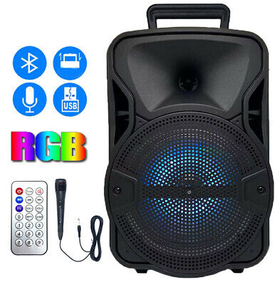 $38.49 • Buy 8'' Portable FM Bluetooth Speaker 1000W Subwoofer Heavy Bass Sound System Party