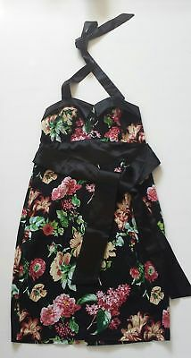 Women's G K Grace Karin Black Floral Dress Color Size 10 /12 - BNWOT • 22.99£