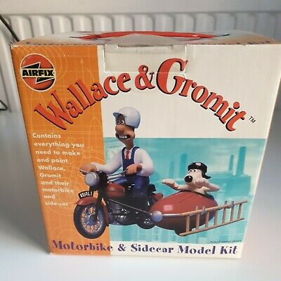 AIRFIX WALLACE & GROMIT - Motorbike & Sidecar Model Kit - Opened See Description • 14.99£